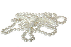 Close up of pearl necklace Stock Photography