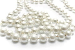 Close up of pearl necklace Royalty Free Stock Image