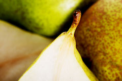 Close up on pears. Macro shot. Royalty Free Stock Photography