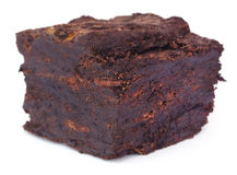 Close up of peat block. Over white background royalty free stock photo