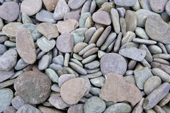 Close up of pebbles at a beach Stock Photography
