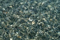 Close-up of pebbles under water royalty free stock images