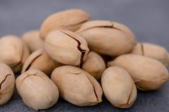 Close-up pecan nuts. Vegetarian food ingredient Stock Photo