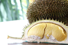 Close up of peeled Durian Royalty Free Stock Images