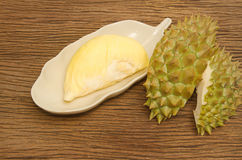 Close up of peeled Durian Stock Images