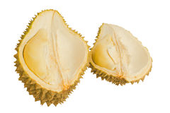Close up of peeled durian isolated Royalty Free Stock Photo