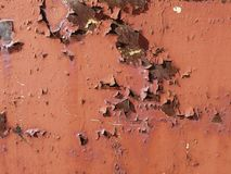 Old cracked paint on the wall. Grunge texture Stock Images