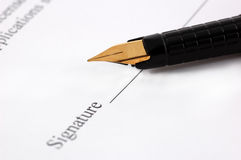 Close-up of pen. Close-up of a fountain pen Stock Photography
