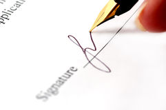 Close-up of pen. Close-up of a fountain pen Royalty Free Stock Image