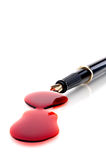 Close up of a pen and blood Stock Image