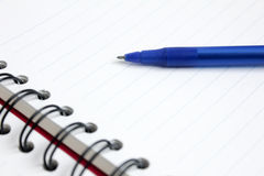 Close up Pen with notebook Royalty Free Stock Photography