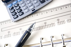 Close Up Pen On Desk Royalty Free Stock Photo