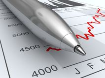 Stock market data Royalty Free Stock Photos