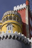 Close up of Pena Castle in Sintra Stock Images