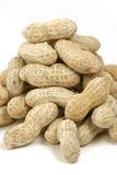 Close up on Penauts. Isolated Peanut Shell Pile Royalty Free Stock Photos