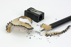 Close up of a pencil being sharpened Stock Photos