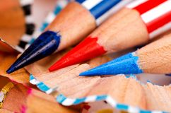 Close up pencil color Royalty Free Stock Photos