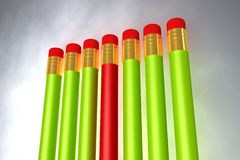 Close up of pencil rubber Royalty Free Stock Image