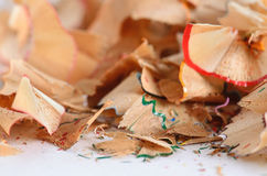 Close-up pencil shavings Royalty Free Stock Photo
