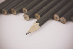 Close up of pencils in a line Stock Image