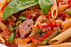 Close-up of penne pasta Stock Images