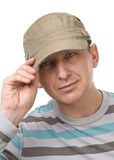 Close-up of a pensive handsome man Royalty Free Stock Image