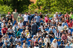 Close Up Of People Crowd Supporting Their Favorite Player During Tennis Match Royalty Free Stock Images