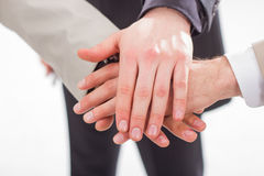 Close up of people that hold hands together. Stock Image
