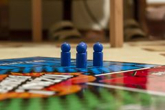 Close up of people playing cross and circle game royalty free stock photos