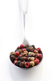 Close up of pepper grains Stock Images