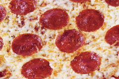 Close up of pepperoni pizza Stock Photography