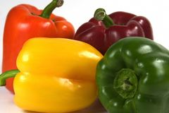Close up Peppers. Colorful fresh bell peppers Royalty Free Stock Photography