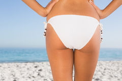 Close up of perfect feminine buttocks Stock Photography