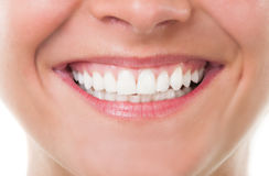 Close-up with perfect smile Stock Photography