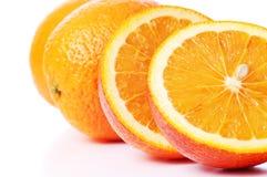 Close-up perfectly fresh orange Stock Photography
