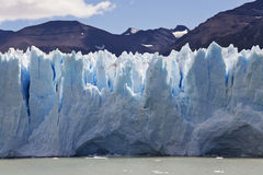 Close-up Perito Morenos glaciar Стоковые Фотографии RF