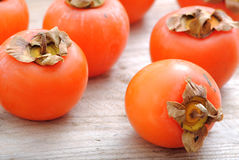 Close up of persimmon fruits Royalty Free Stock Photography