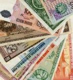 Close up peruano do dinheiro foto de stock