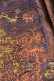Close Up Petroglyph Panel Royalty Free Stock Images