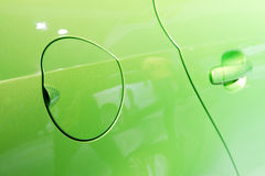 A close up of a petrol cap cover Stock Image