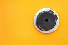 Close up of a petrol cap cover on a new vehicle Royalty Free Stock Photos