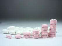 Close up of pharmaceutical drugs. Close up of pharmaceutical different color medical drugs Royalty Free Stock Photos