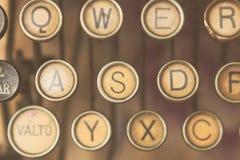 Close up photo of antique typewriter keys Stock Images