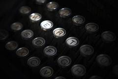 Close up photo of antique typewriter keys Royalty Free Stock Photo