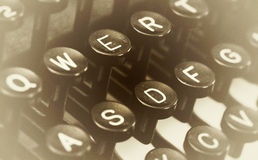 Close up photo of antique typewriter keys Royalty Free Stock Image