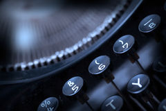 Close up photo of antique typewriter keys Stock Photos