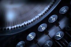 Close up photo of antique typewriter keys Stock Photos