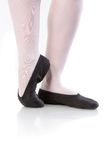 Close up photo of ballerina's pointes on white Stock Image