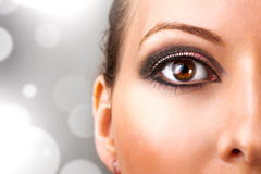 Woman with beautiful eye makeup stock image