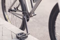 Close-up photo of bicycle chain Royalty Free Stock Photos